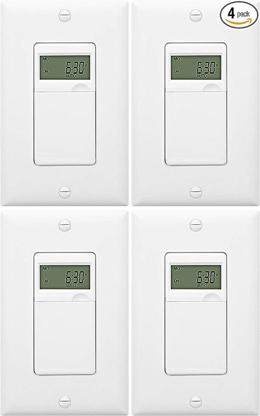 Enerlites HET01-C Digital In-Wall Programmable Timer 10 Pack