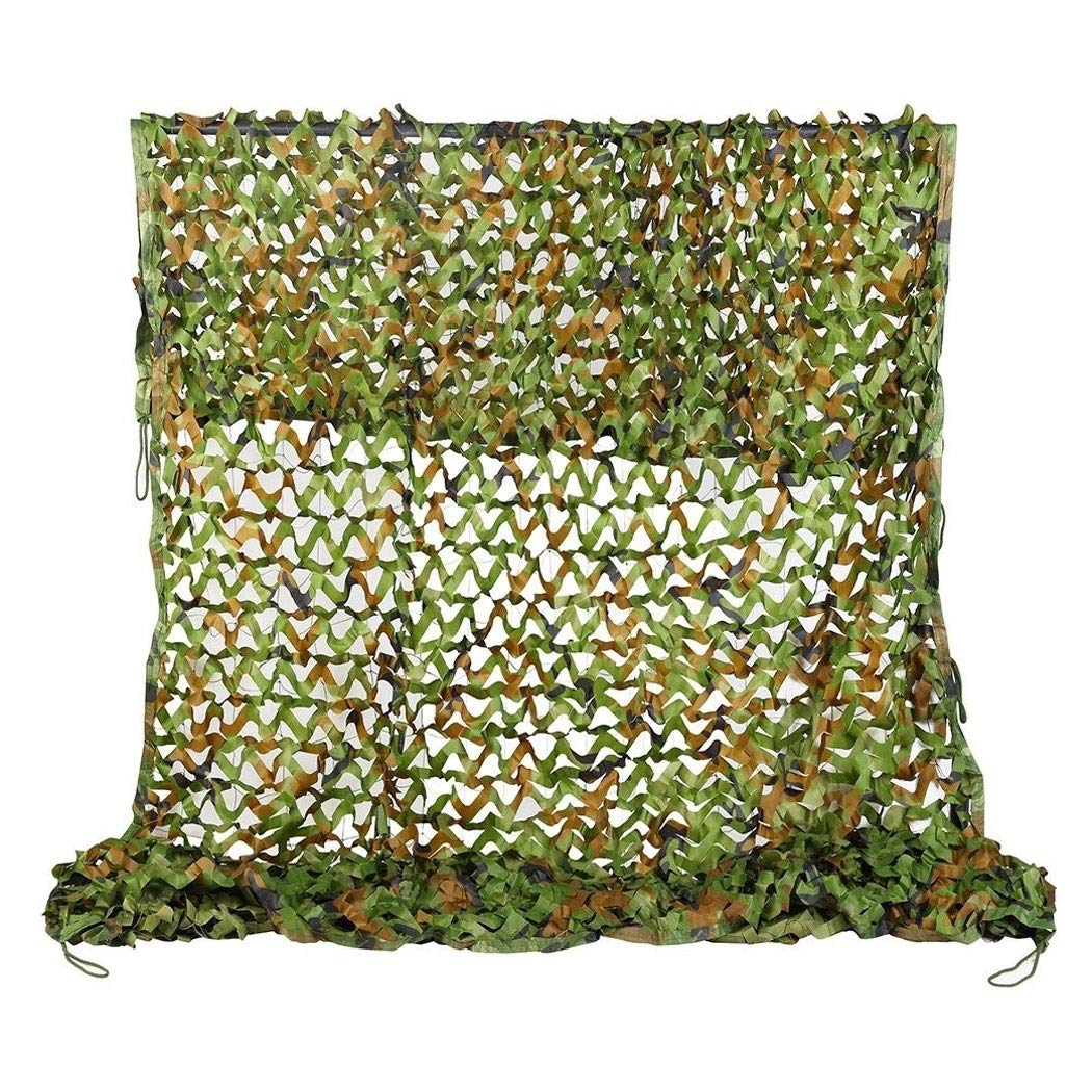 Camouflage Net Camo Netting Woodland Camouflage Netting Sunscreen Sunshade Awnings Oxford Fabric Tent 5x3m For Camping Military Army Outdoor Photography Hide Hunting Bird Watching Kids Dens Build Gard
