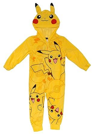 Amazon.com: Pokemon Pikachu con capucha pijamas Chándal para ...