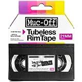 Muc-Off Tubeless Rim Tape, 21mm - Pressure-Sensitive Adhesive Rim Tape For Tubeless Bike Tyre Setups - 10 Metre Roll…