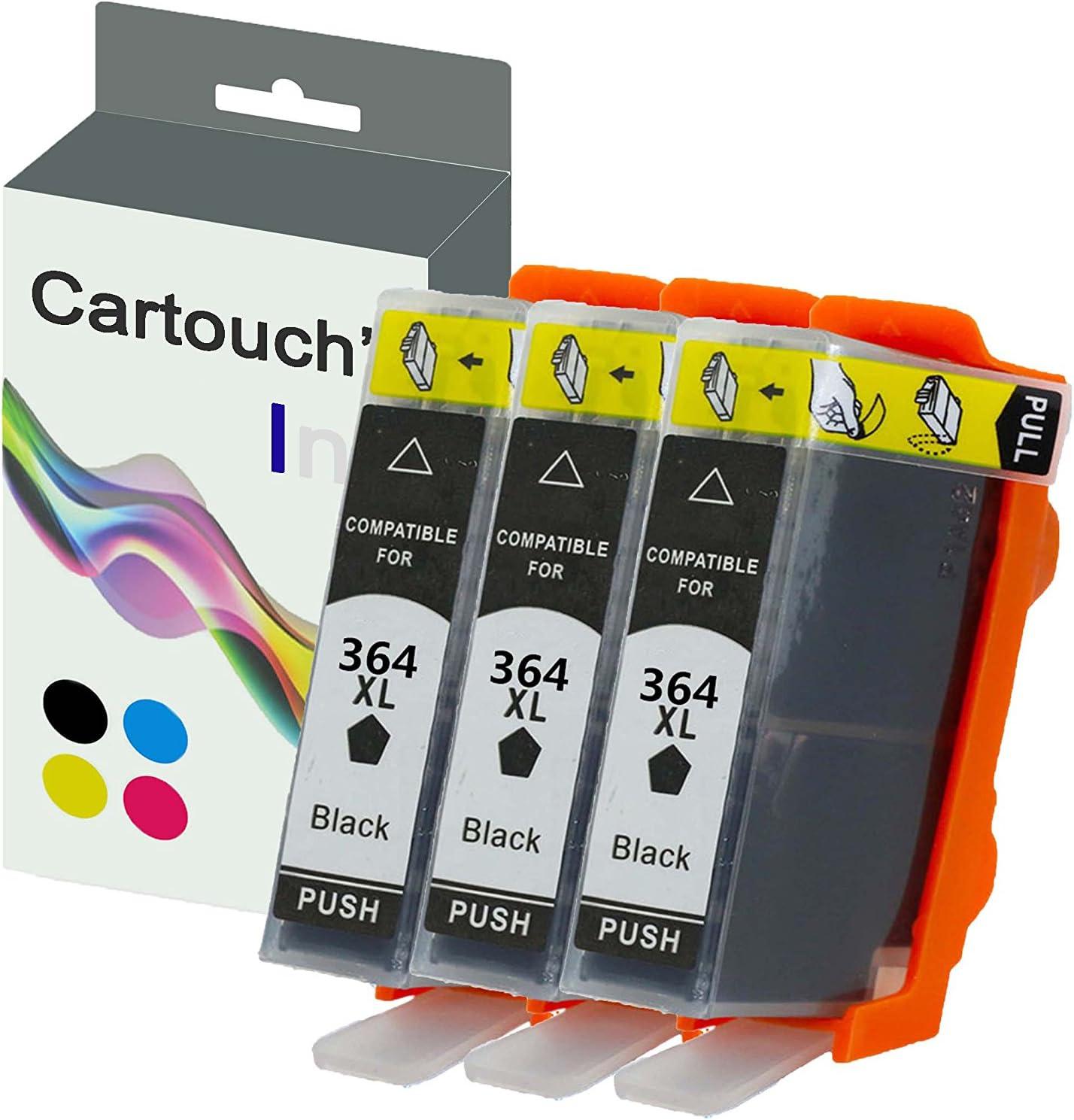 cartouch Ink 364 X L Pack reposición 3 cartuchos de tinta compatibles color negro para impresora HP: Amazon.es: Oficina y papelería