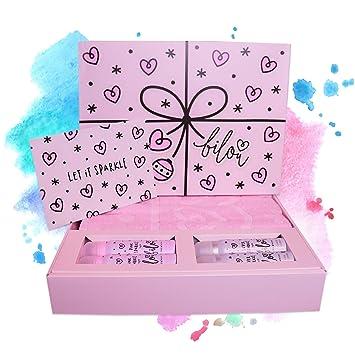 Neu Bilou Pink Sparkle Geschenkbox 2018 Mit Großen Handtuch In