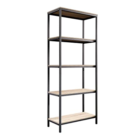 Sauder 420277 North venue Tall Bookcase, L 23.47 x W 11.61 x H 56.77 , Charter Oak finish