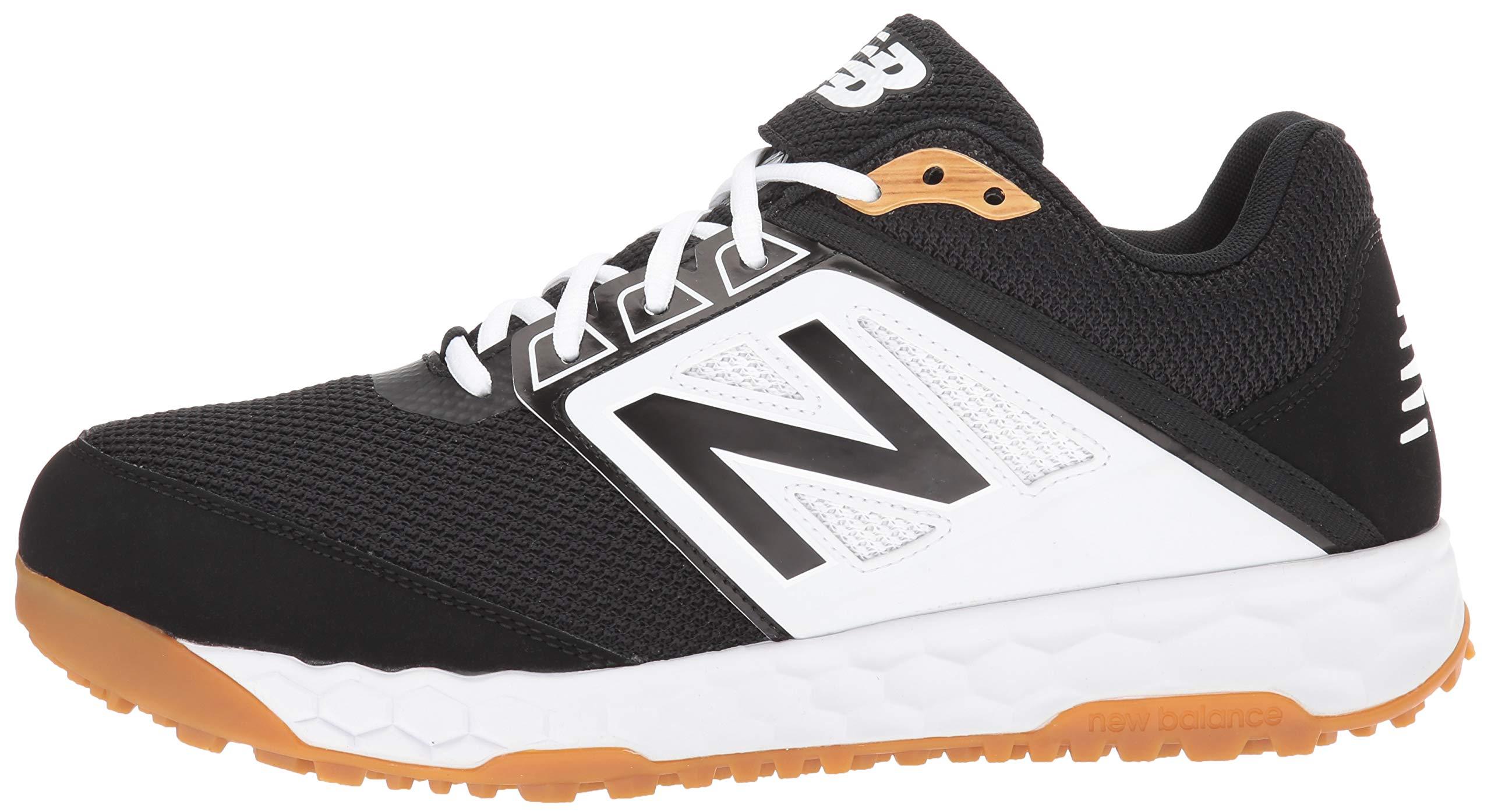New Balance Men's 3000v4 Turf Baseball Shoe, Black/White, 5 D US by New Balance (Image #5)