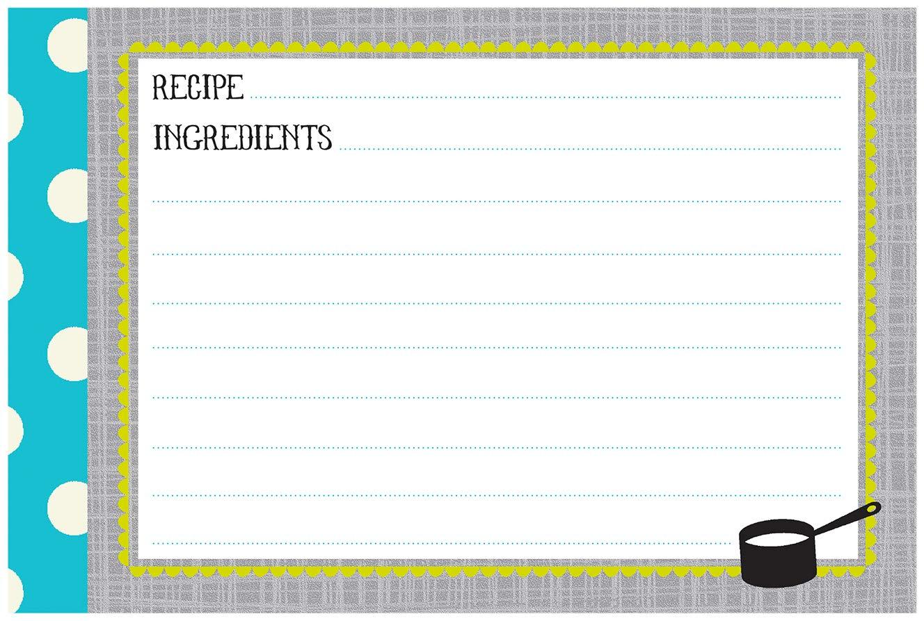 "A La Carte 40 Count Recipe Cards 4/"" x 6/"" Gibson Q12-8949 C.R"
