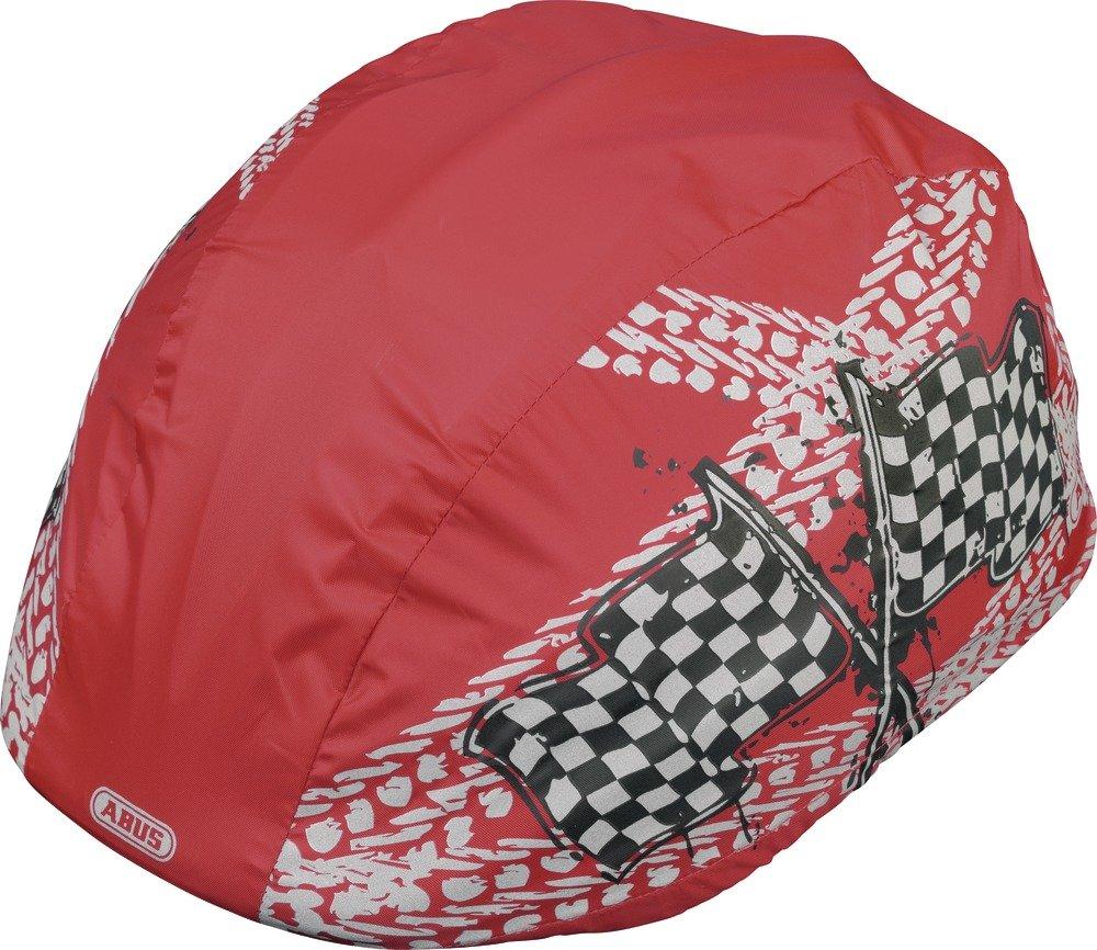 Abus - Funda impermeable de casco de ciclismo para niño rojo niño Talla:talla única 52539-1