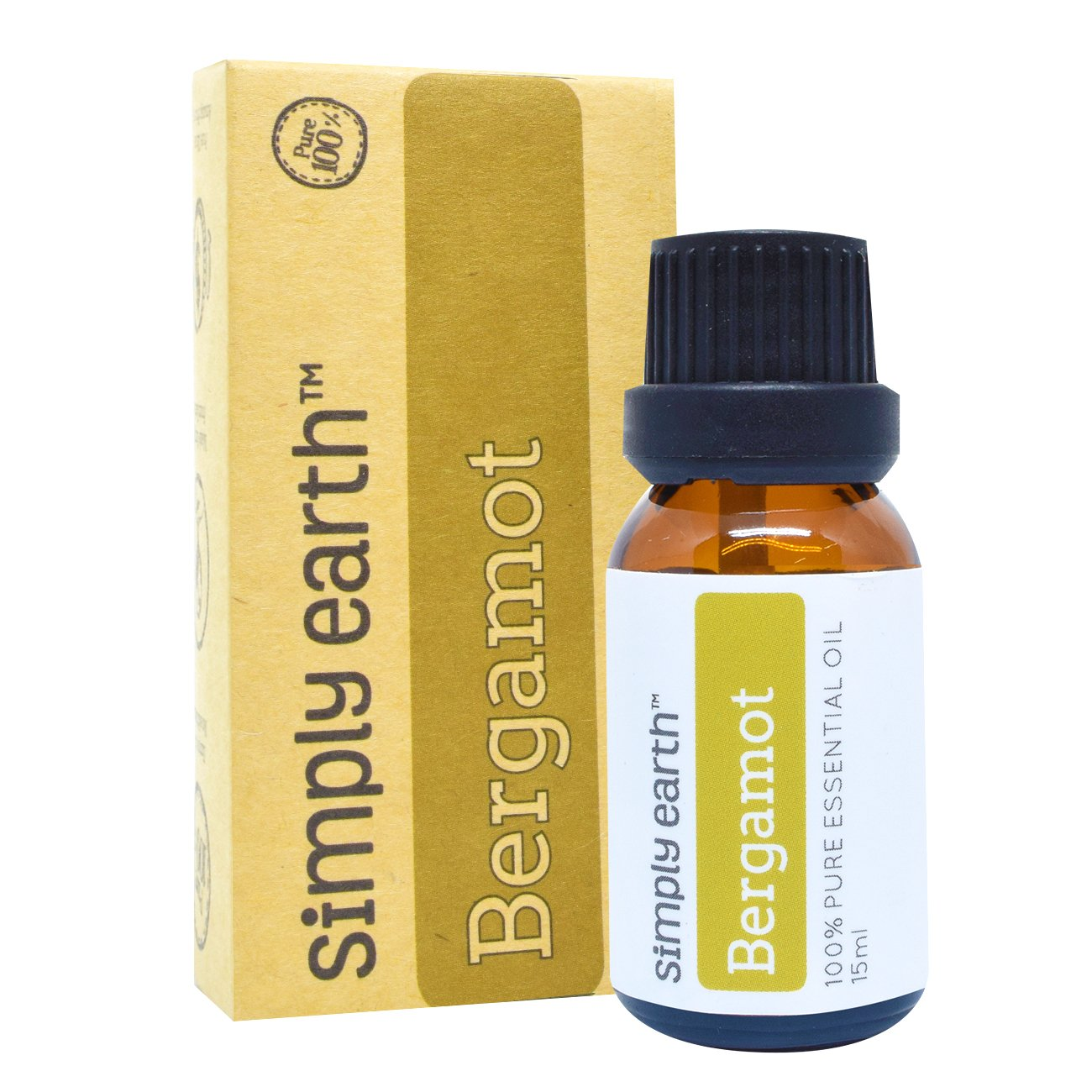 Simply Earth Bergamot Essential Oil - 15 ml, 100% Pure Therapeutic Grade by