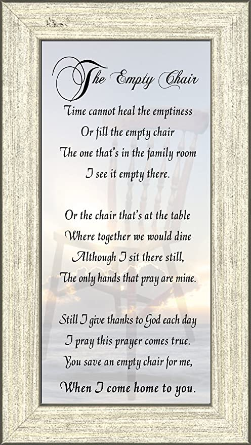 the empty chair memorial bereavement poem frame gift in remembrance