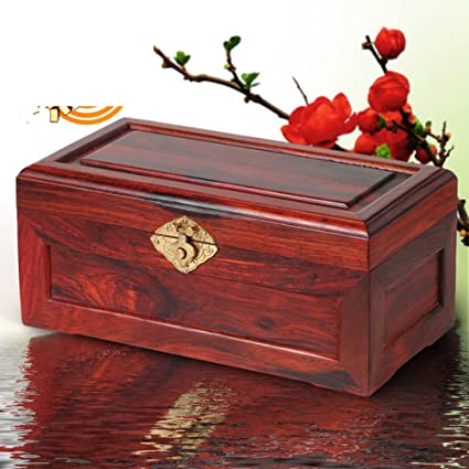 Charmant Mahogany Jewelry Box Rosewood Wooden Jewelry Box Chinese Antique Storage Box  Vintage Solid Wood Box
