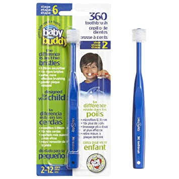 Baby Buddys 360 Degree Toothbrush— Babys First Toothbrush—Innovative Complete Oral Care System That