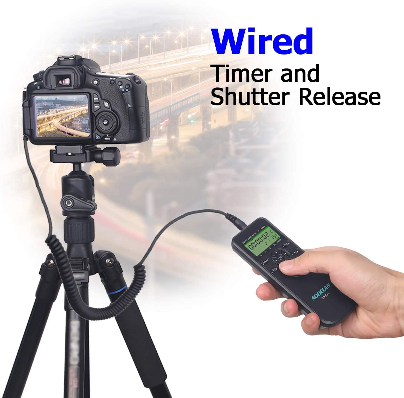 Timer Remote Shutter Release and Intervalometer with LCD and HDR for Nikon Z6 D800 and for Fujifilm Kodak Cameras D7000 Z7 D7100 D750