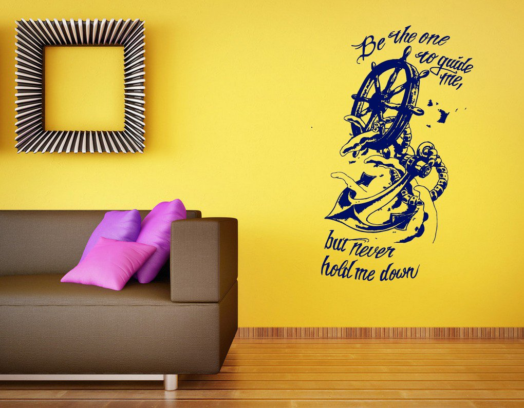 Amazon.com: Wall Vinyl Sticker Decals Mural Room Design Art Anchor ...
