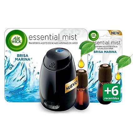 Air Wick Ambientador Essential Mist Recambio Fresh - 6 Paquetes de 1 Recambio - Total: