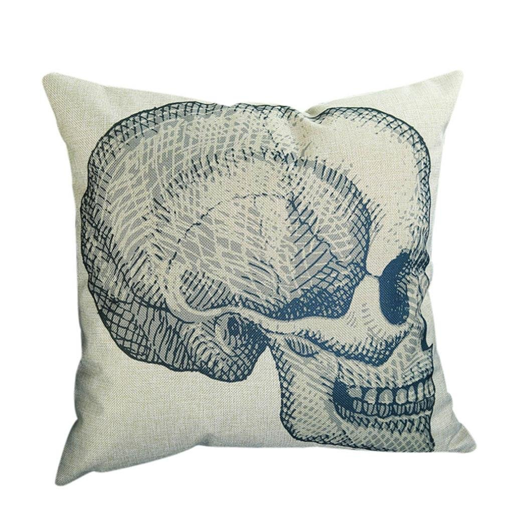 Almohada Funda De Cojín (45 x 45 cm ronamick cráneo Print ...