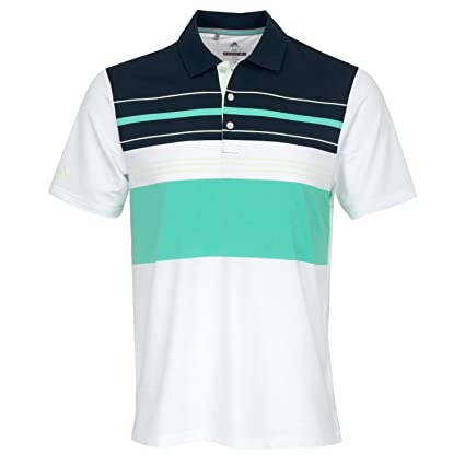 ffdd58a0 adidas Golf 2018 Ultimate 365 Engineered Block Mens Golf Polo Shirt  White/Aero Green Small