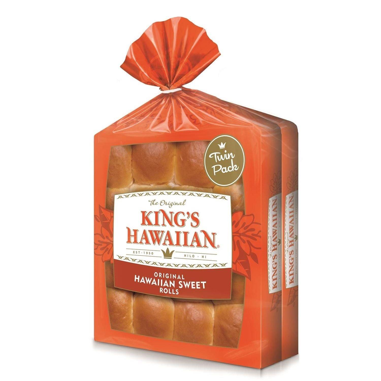 King's Hawaiian Original Sweet Rolls, 16 Rolls Per Bag, Pack Of 2 Bags