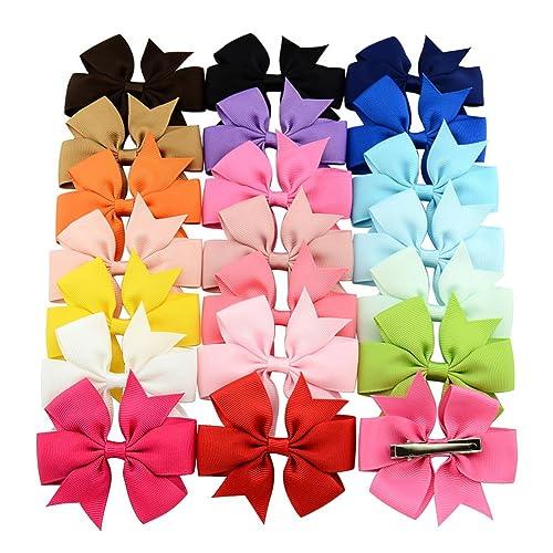 CAOLATOR 20 Piezas Niña Venda De Pel Bebé Banda Infantil Para El Pelo NiñOs Bandas Lazo Costilla de Cinta Horquilla de Pelo(Color Aleatorio)