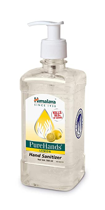 Himalaya Purehands Hand Sanitizer Lemon 500 Ml Amazon In