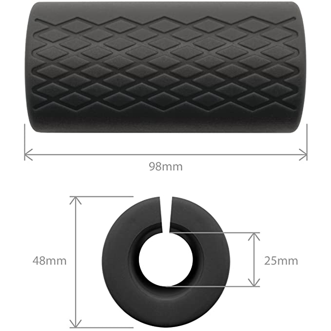 Amazon.com : CampTeck U6816 Thick Bar Grips Silicone Bar Grips for Barbell & Dumbbells - Increase Arm Size, Biceps, Triceps, Forearms and Grip Strength ...