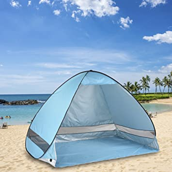 Oversized Pop UP Beach Tent Sun SheltersAutomatic XXL Lightweight Portable Family Anti UV Cabana