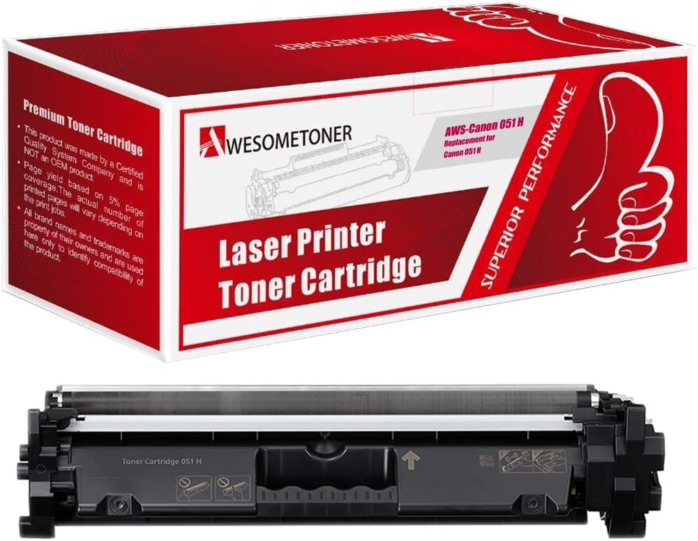 Black,5-Pack MF267dw NYT Compatible Toner Cartridge Replacement for Canon 051 for Canon imageCLASS LBP162dw MF269dw MF264dw