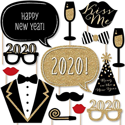 New Years Eve Party Supplies New Years Eve Photo Props New Years Eve Photo Booth Props