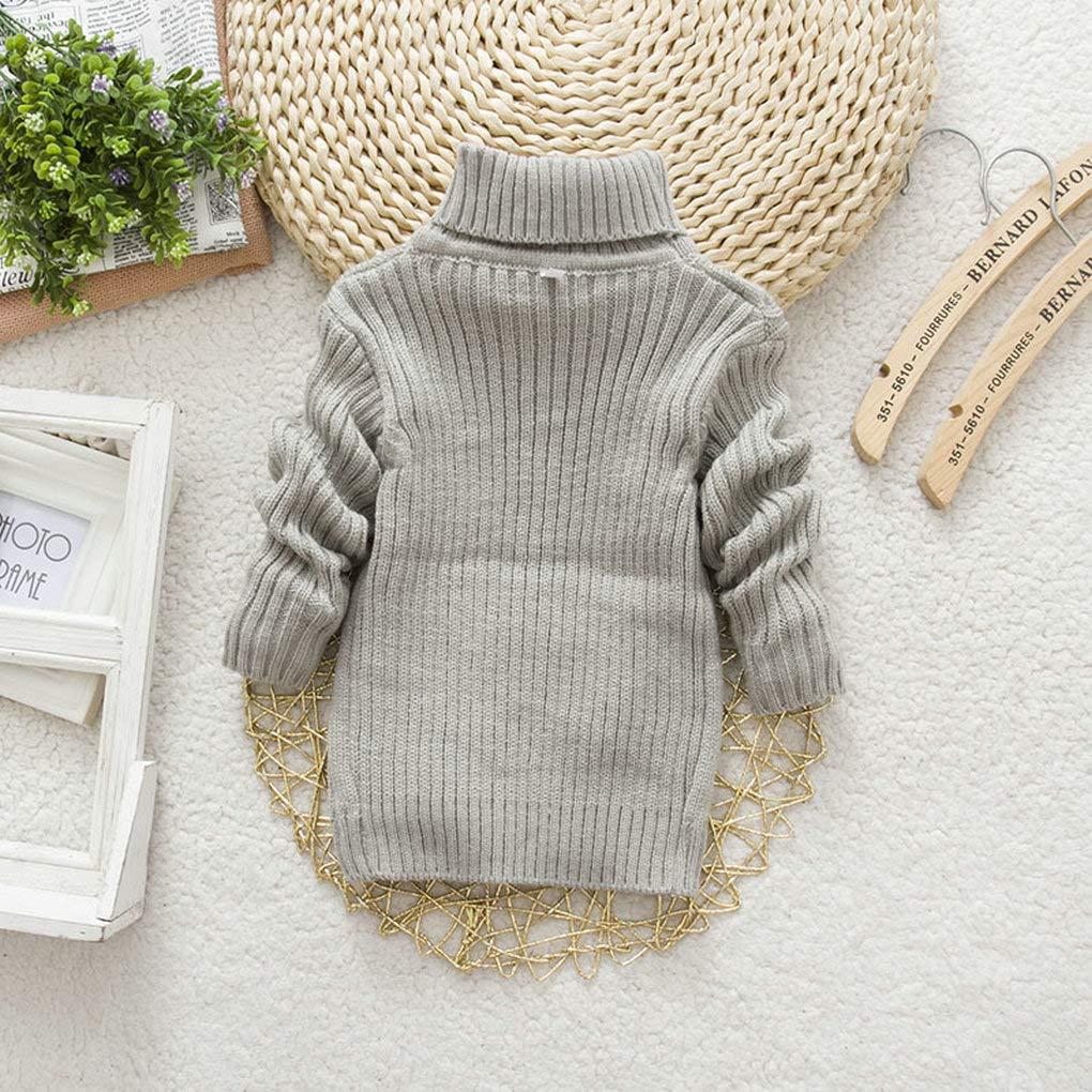 XYSSWW Autumn Winter Kids Warm Sweaters Baby Boys Girls High-Necked Sweater
