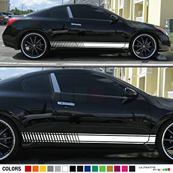 2x Lower Side Stripes Decal Sticker Vinyl Kit Compatible With Nissan Altima  2.5 SL Sport Coupe