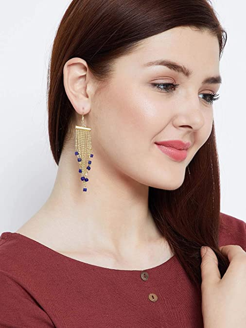 ZeroKaata/Fashion Jewellery Golden Long Hangings Western Earrings Combo For Women /& Girls