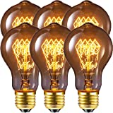 Edison Bulb, FadimiKoo Vintage Bulb 60W Dimmable A19 Squirrel Cage Filament Edison Lihgt Bulb for Home Light Fixtures Decorat