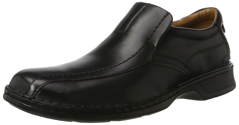 Clarks Escalade Step, Mocasines para Hombre 43 EU Negro (Black Leather)