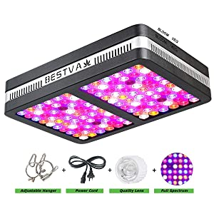 BESTVA Reflector Series 1200W LED Grow Light Full Spectrum Grow Lamp for Hydroponic Indoor Plants Veg and Flower (Elite-1200w)