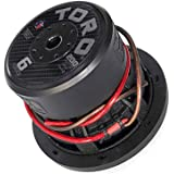 """Toro Tech – Fierce 6, 6.5 Inch 200 Watts RMS – 400 Watts MAX – Dual 4 Ohm 1.5 Inch Voice Coil, 6.5"""" Car Audio Subwoofer for C"""