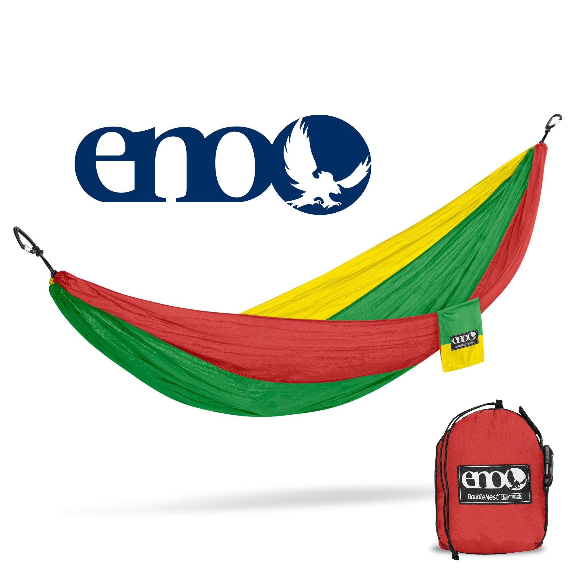 2X 5kN Heavy Duty Carabiners Compatible with All ENO hammocks Hammock Straps by HikeGuru with Metallic Buckle System Instead of Loops