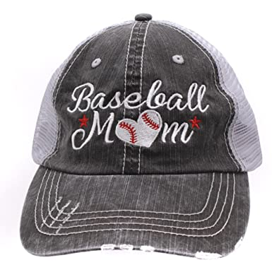 Baseball  Momlife Mom Love Heart Women Embroidered Trucker Style Cap ... b54be7a65fc