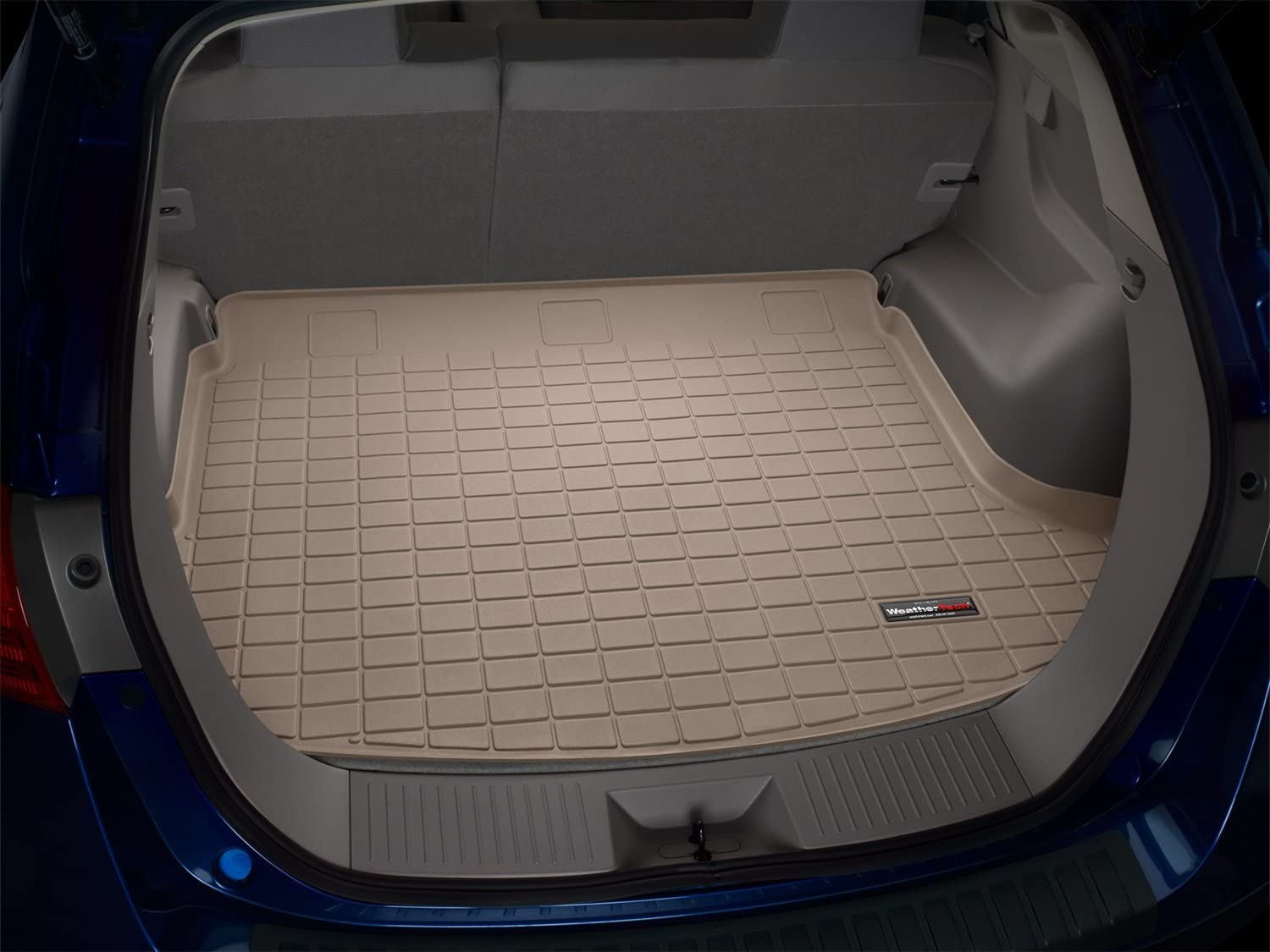 Tan WeatherTech Custom Fit Cargo Liners for Chevrolet Corvette
