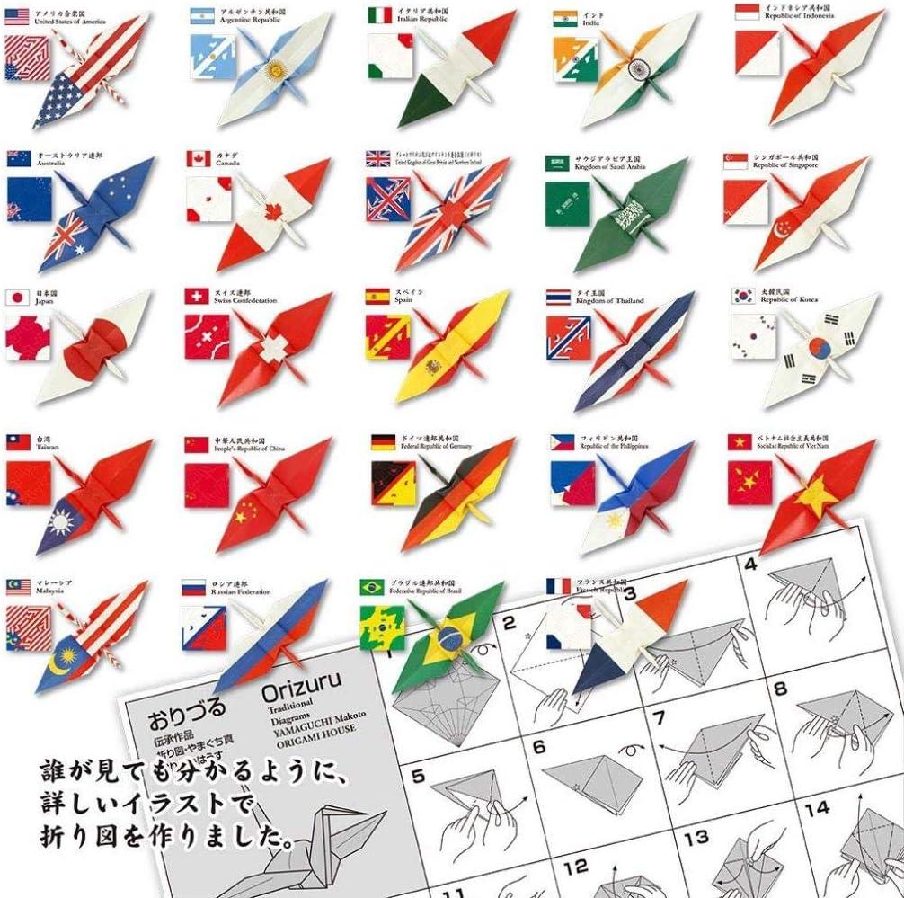 con bandera nacional Impreso 15/cm x 15/cm 2/hojas de cada 24/patrones 006120 Toyo Origami de gr/úa