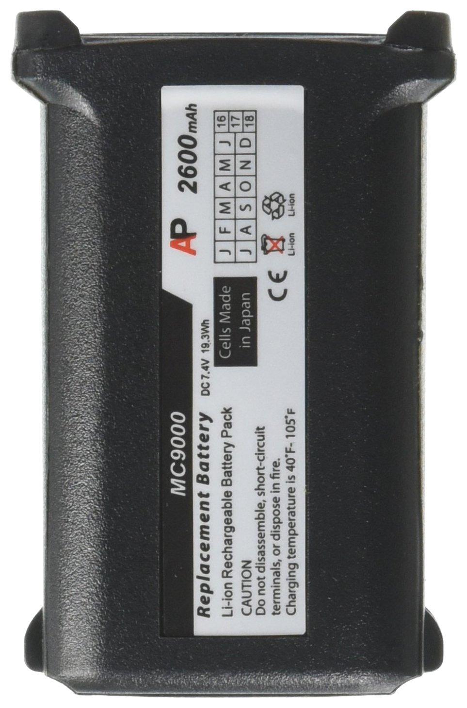 Motorola/Symbol MC9000-G/K Series Scanners: Replacement Battery. 2600 mAh Artisan Power 9060 9090 9097