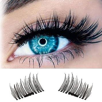 ce9159cb83b Amazon.com : Fitnate Magnetic Eyelashes 3D Reusable False Magnet Eye Lashes  Extensions 2 Pairs, 1 Set (BT0110A) : Beauty