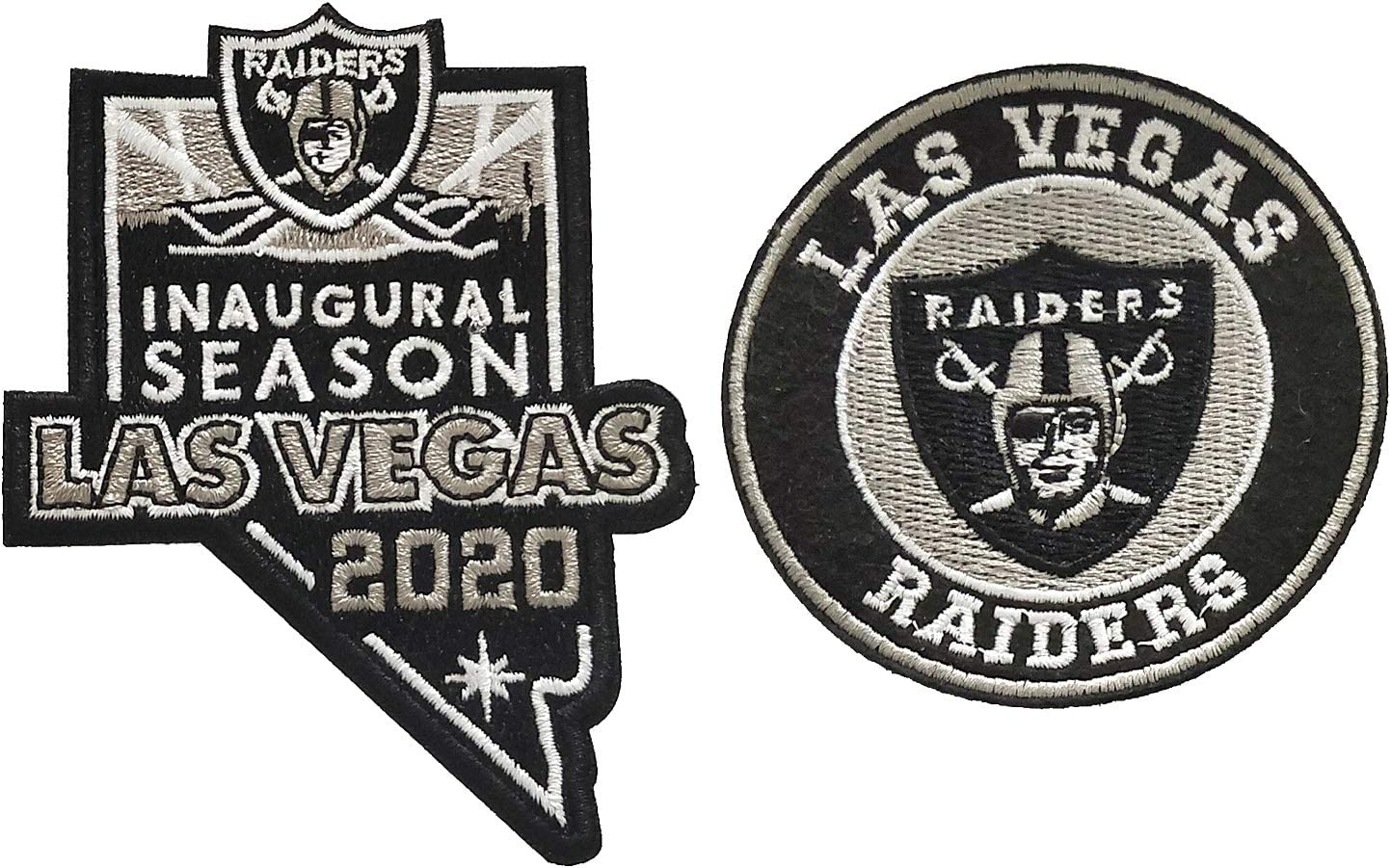 2020 Inaugural Season Tactical Hook-Backed Morale Patch Football Team Logo Jersey Janhop 2pcs Compatible Raiders Patch