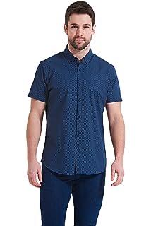 3175810e2cc7 Mens Linen Shirt Threadbare Short Sleeved Collared Casual Designer Summer  New