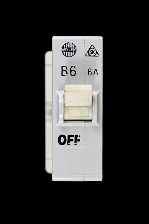WYLEX PLUG IN MCB 6A BS3871 CIRCUIT BREAKER BASE
