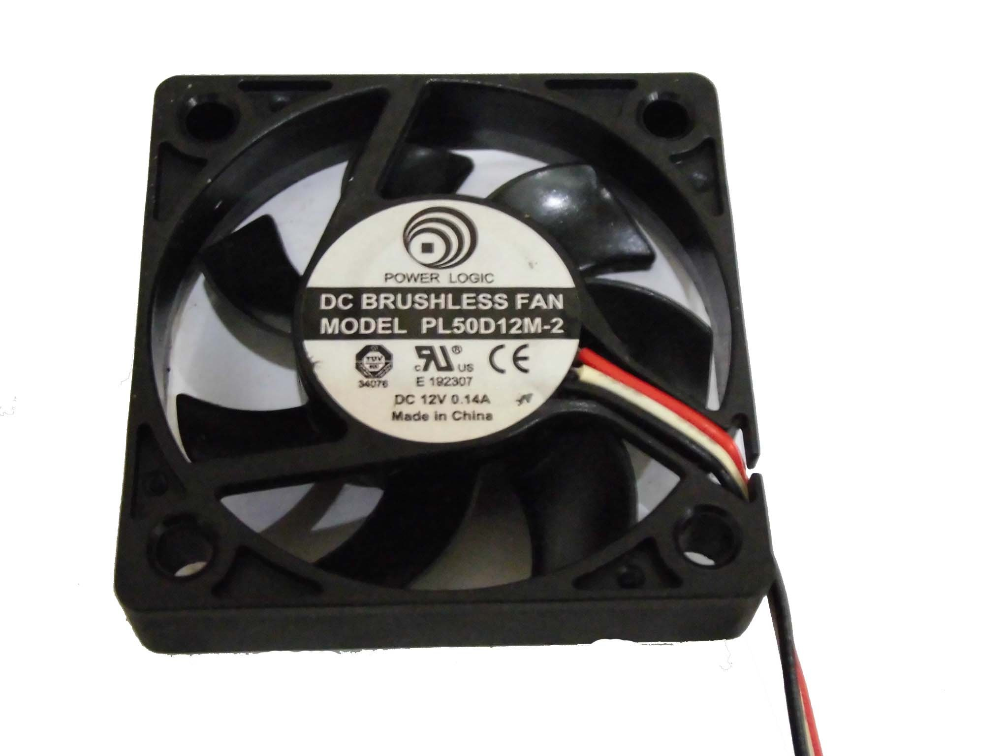 Power Logic 5010 PL50D12M-2 12V 0.14A 3Wire Cooling Fan by General (Image #1)