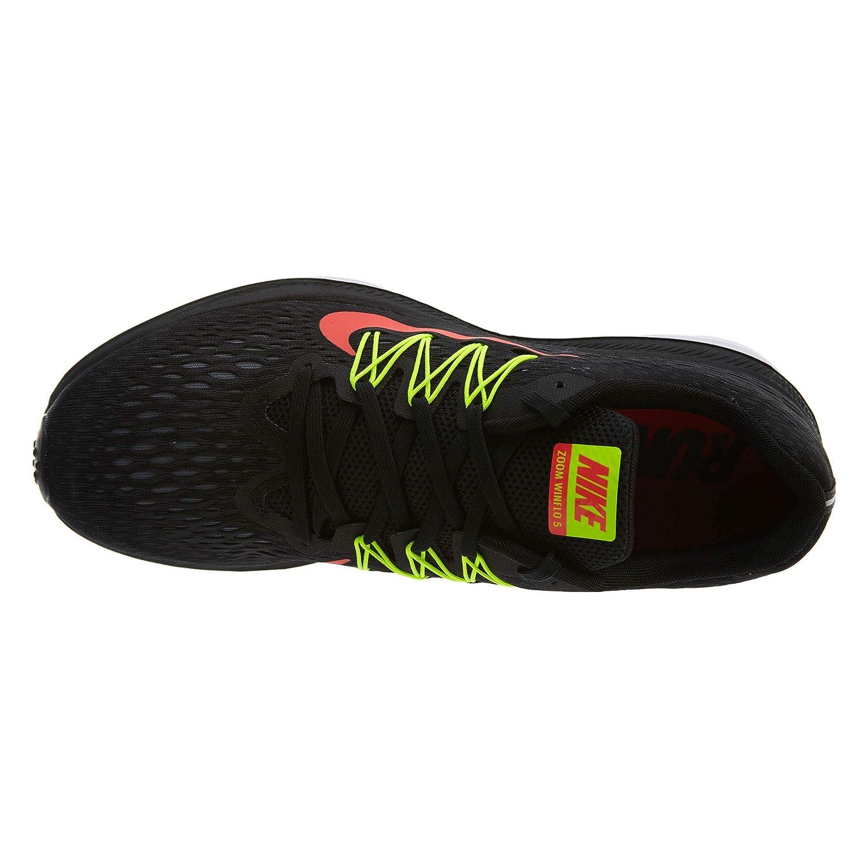 meet 2ea55 b53fa Nike Zoom Winflo 5, Zapatillas de Deporte para Hombre, (Black Bright  Crimson Volt Anthracite 004), 44 EU  Amazon.es  Zapatos y complementos