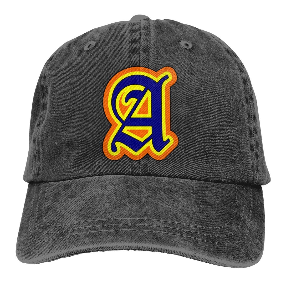 Q64 Alphabet A Unisex Adult Cowboy Hat Hip Hop Cap Adjustable Truck Driver Hat