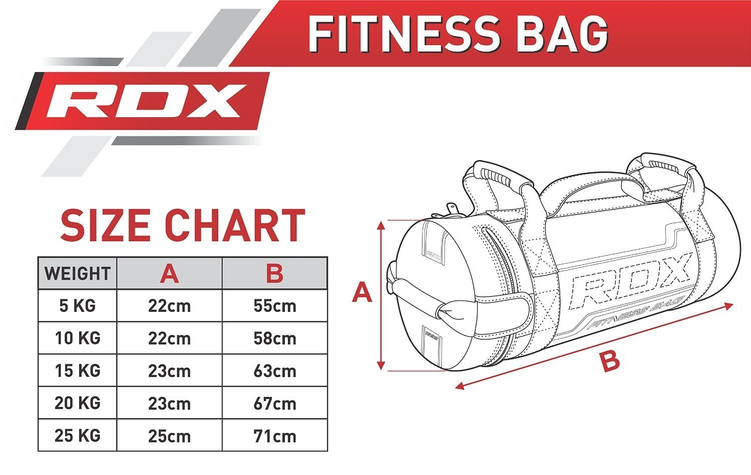 RDX Sandbag Fitness Workout Saco Peso Power Bag Ejercicio Pelota Gymnasia: Amazon.es: Deportes y aire libre