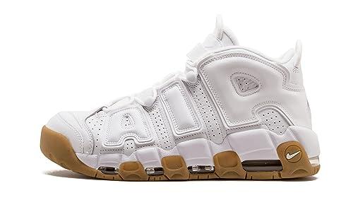 detailing 7f461 b2646 Nike Men s Air More Uptempo, White White-Bamboo-Gum Light Brown,