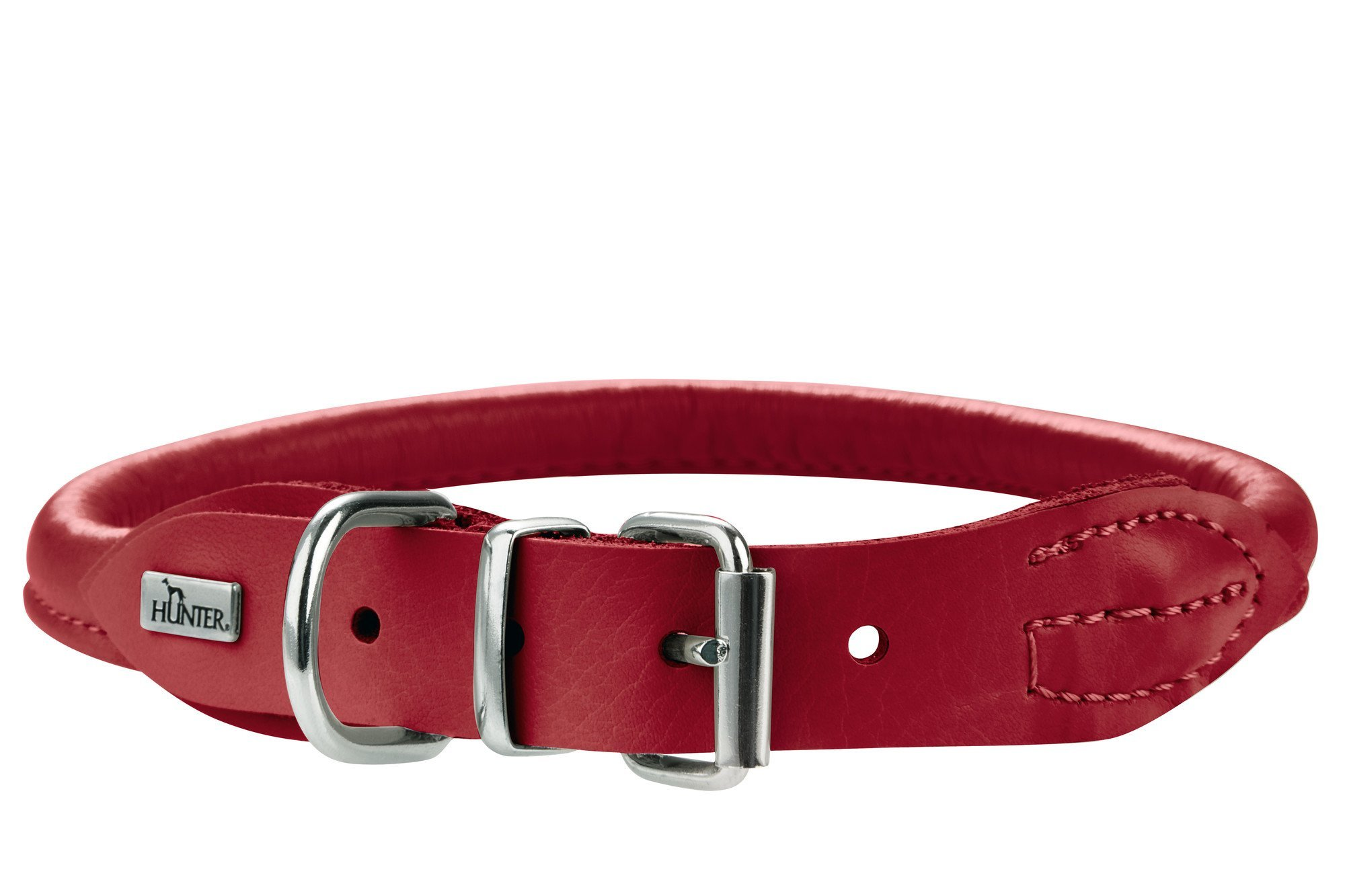 Hunter HT61459 Round & Soft Elk Leather Collar, One Size