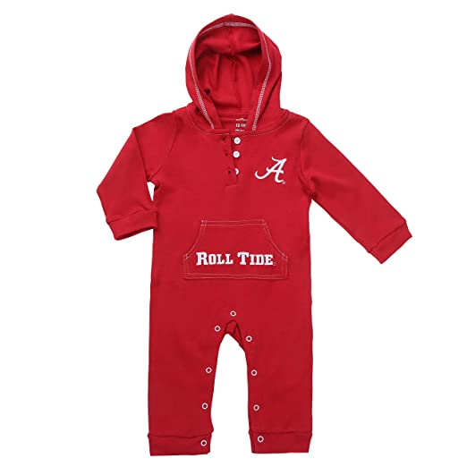 cbdcfbd6f Amazon.com: Alabama Crimson Tide Baby and Toddler Hooded Romper: Clothing