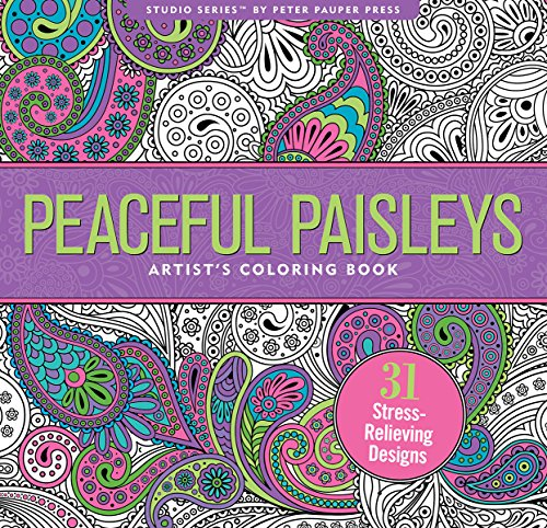 Peaceful Paisleys Adult Coloring Book 31 Stress Relieving Designs Studio